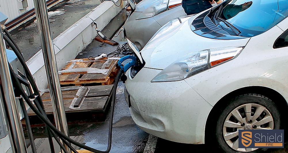 Пожежна безпека місць заряджання автомобілів